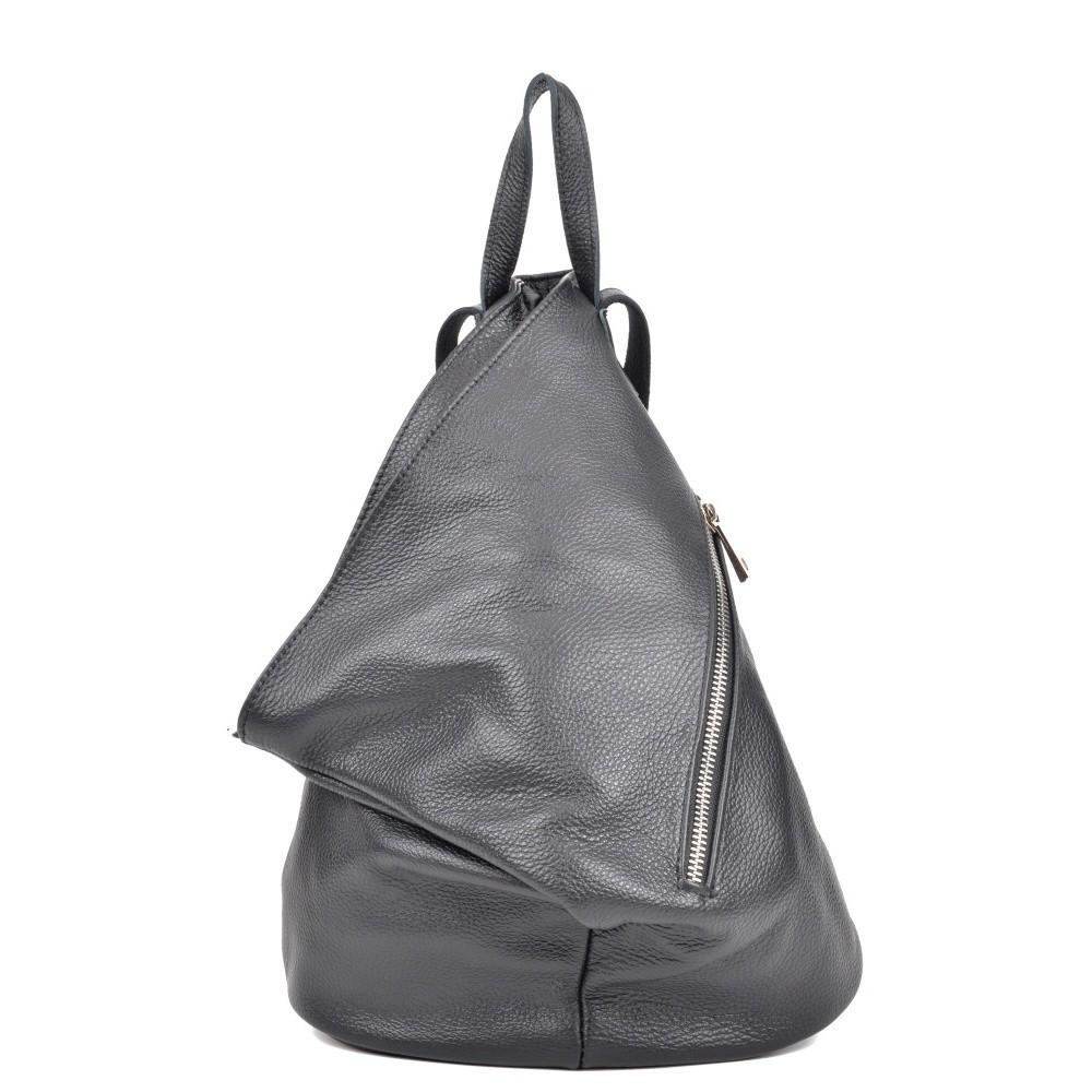 Čierny kožený batoh Isabella Rhea Beau