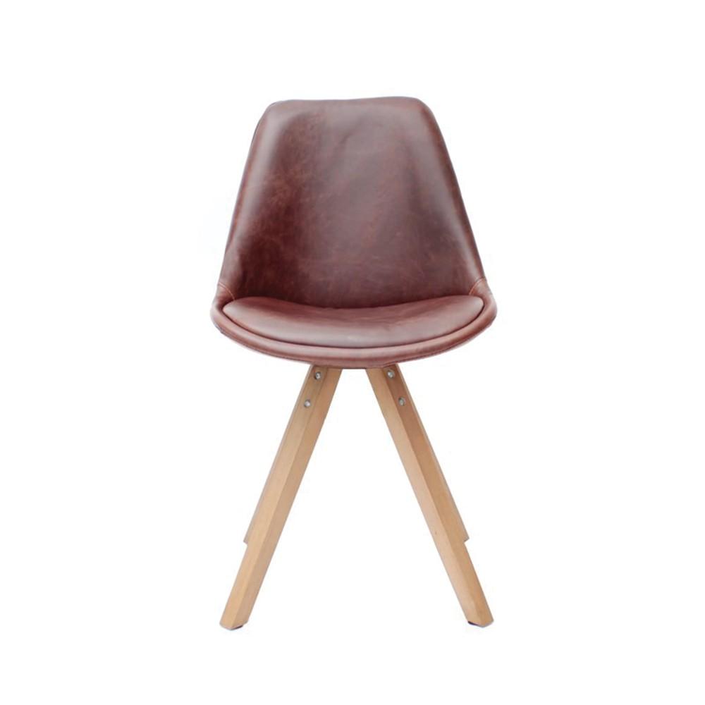 Hnedá jedálenská stolička LABEL51 Bari