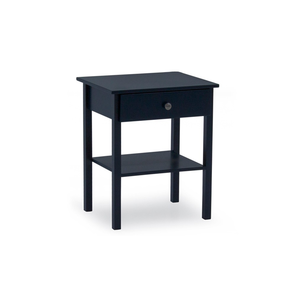 Tmavomodrý drevený nočný stolík VIDA Living Willow