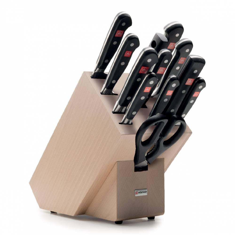 Sada nožů se světlým blokem, ocílkou a nůžkami 13dílná Classic