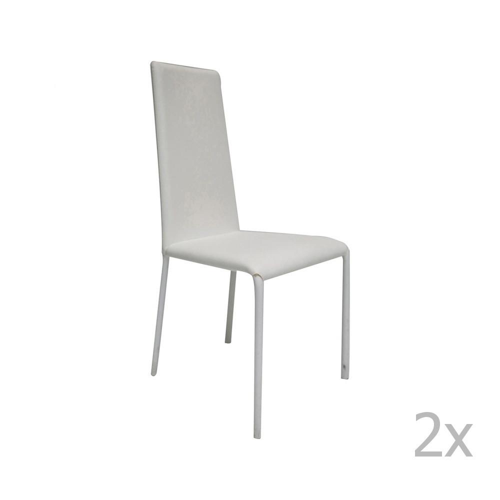 Sada 2 bielych stoličiek Esidra Salvator