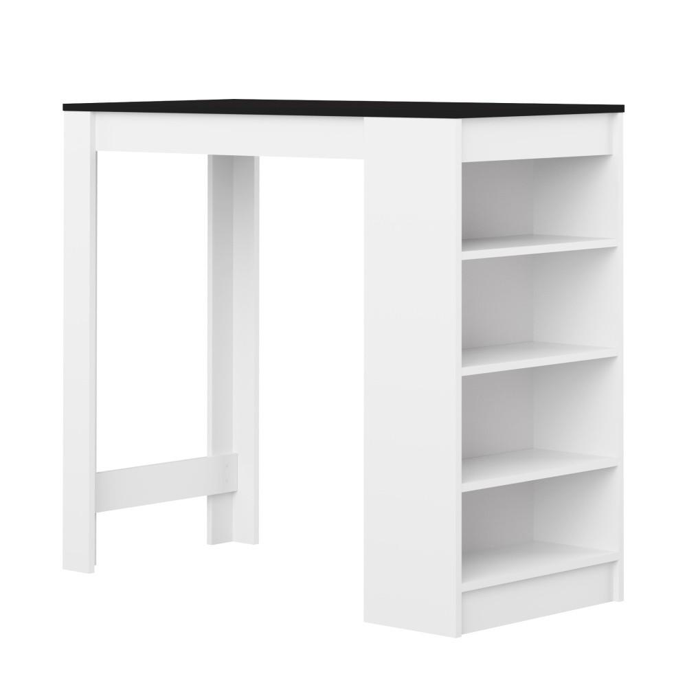 Biely barový stôl s čiernou doskou Symbiosis Auguste