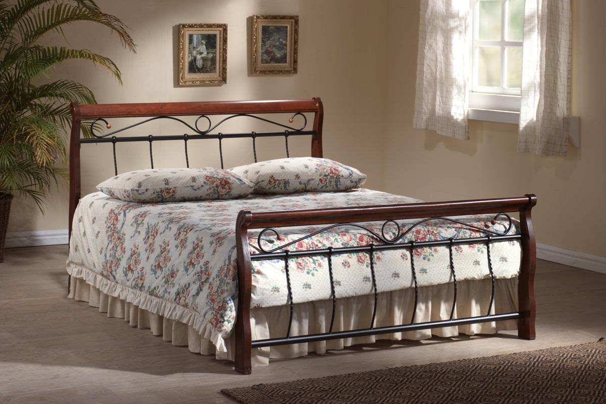 SIGNAL VENECJA 180 posteľ s roštom - čerešna antická
