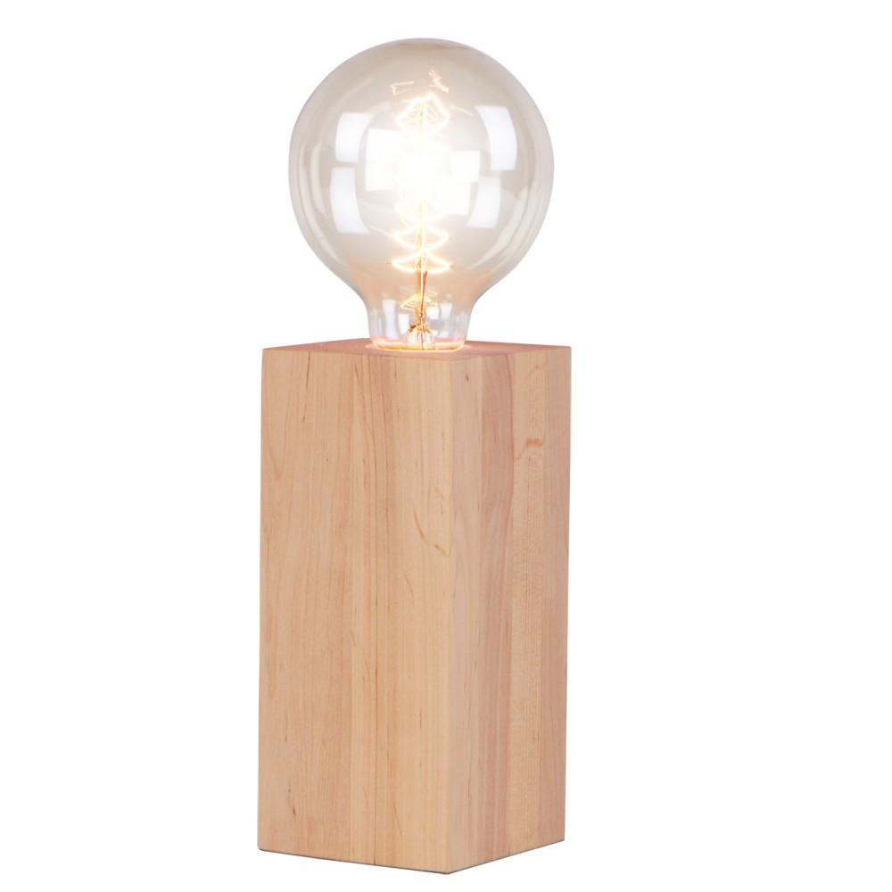 Stolová lampa z jelšového dreva Nørdifra Blocks, výška 18 cm