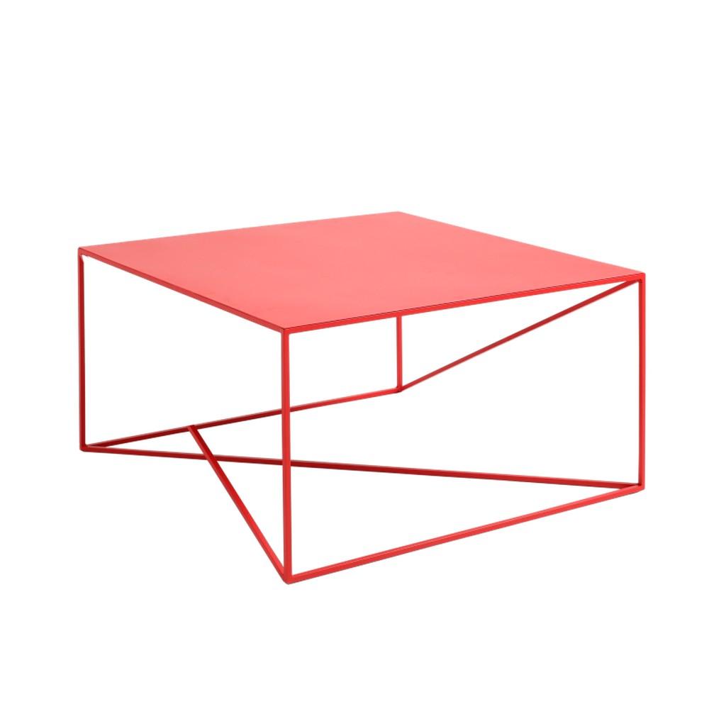 Červený konferenčný stolík Custom Form Memo, šírka 80 cm
