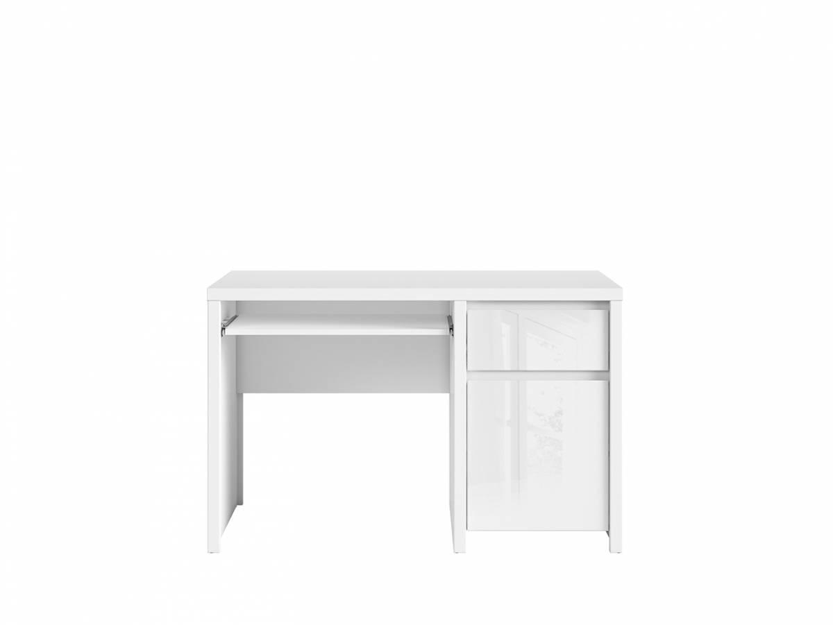 PC stolík Kaspian BIU1D1S/120 (biela + lesk biely)