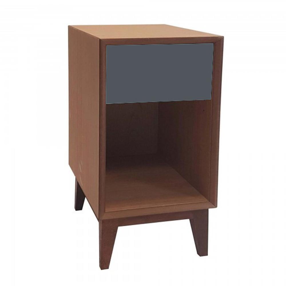 Veľký nočný stolík s grafitovou zásuvkou Ragaba PIX