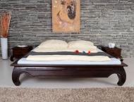 Furniture nábytok  Masívna posteľ z Palisanderu  Espandár I  214x174x35 cm