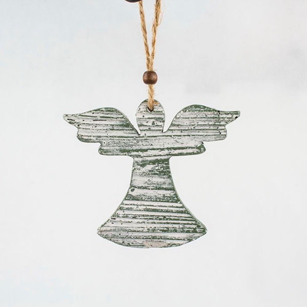 Závesná zelená dekorácia v tvare anjela Dakls