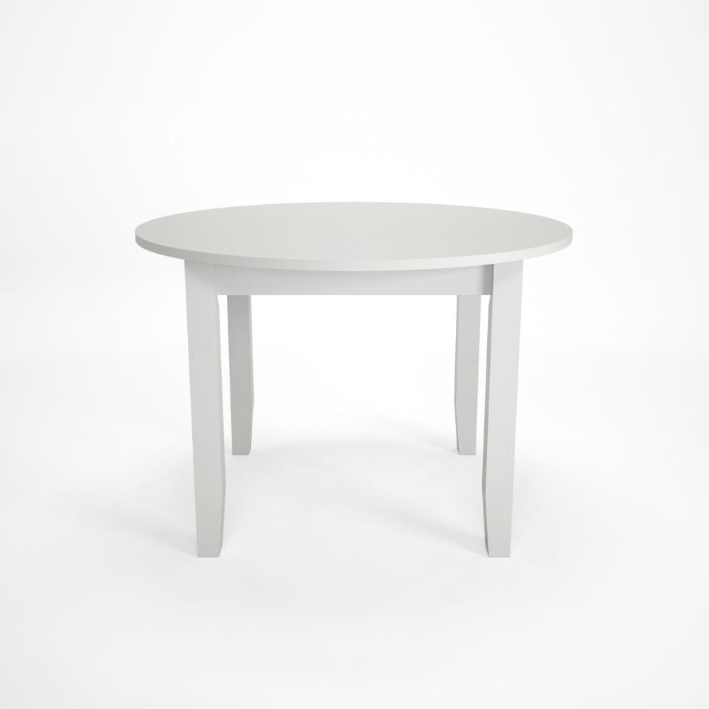 Biely jedálenský stôl z dubového dreva Artemob Lass, Ø 110×75 cm