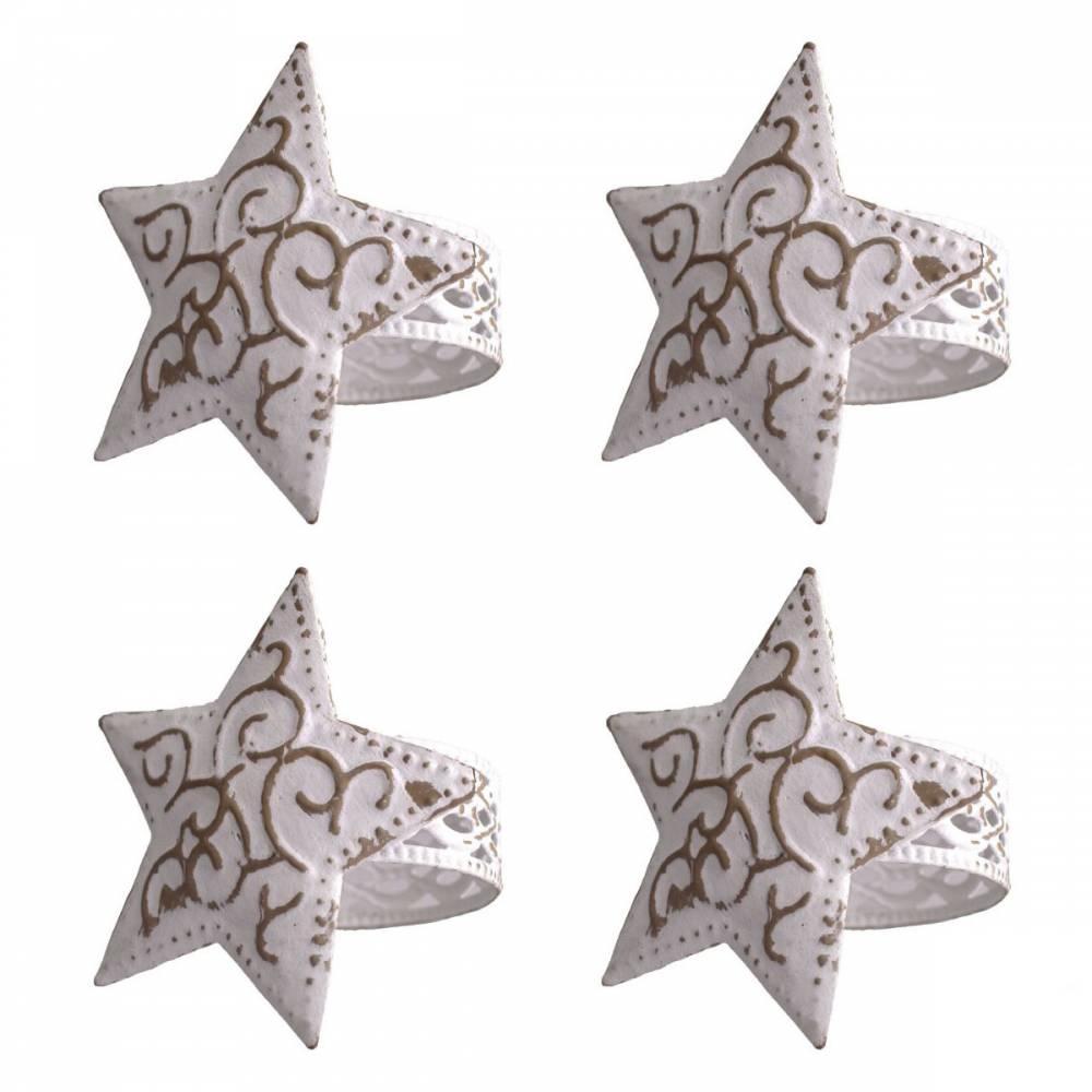 Sada držiakov na servítky Hviezda, 4 ks