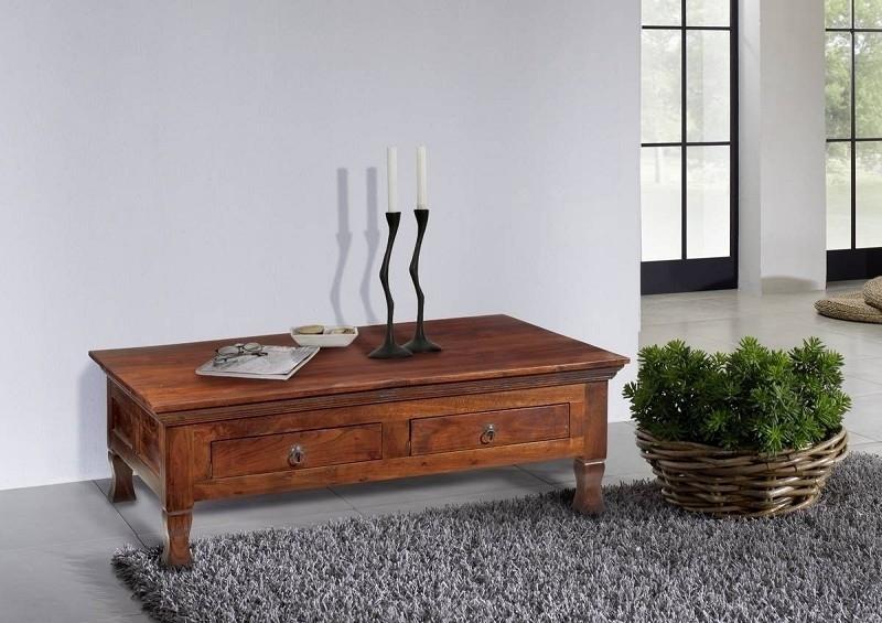 OXFORD #445 Kolonialstil konferenčný stolík 120x75 masívny agátový nábytok
