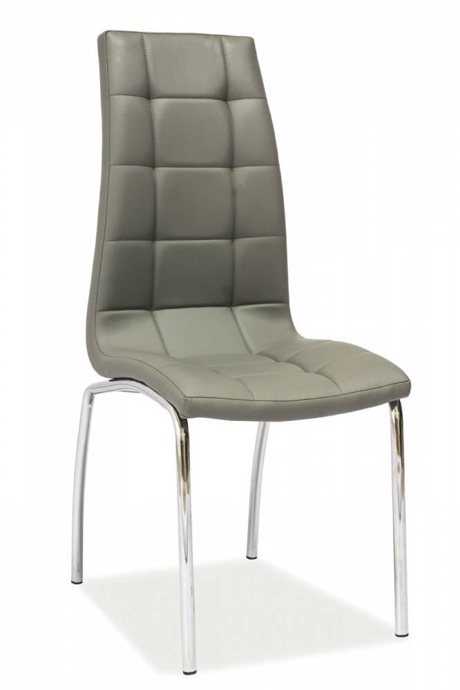 Jedálenská stolička H-104 (ekokoža sivá)