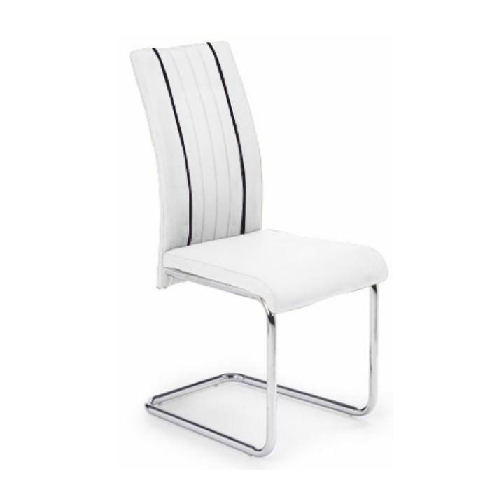 Jedálenská stolička Lesana (biela + čierna)