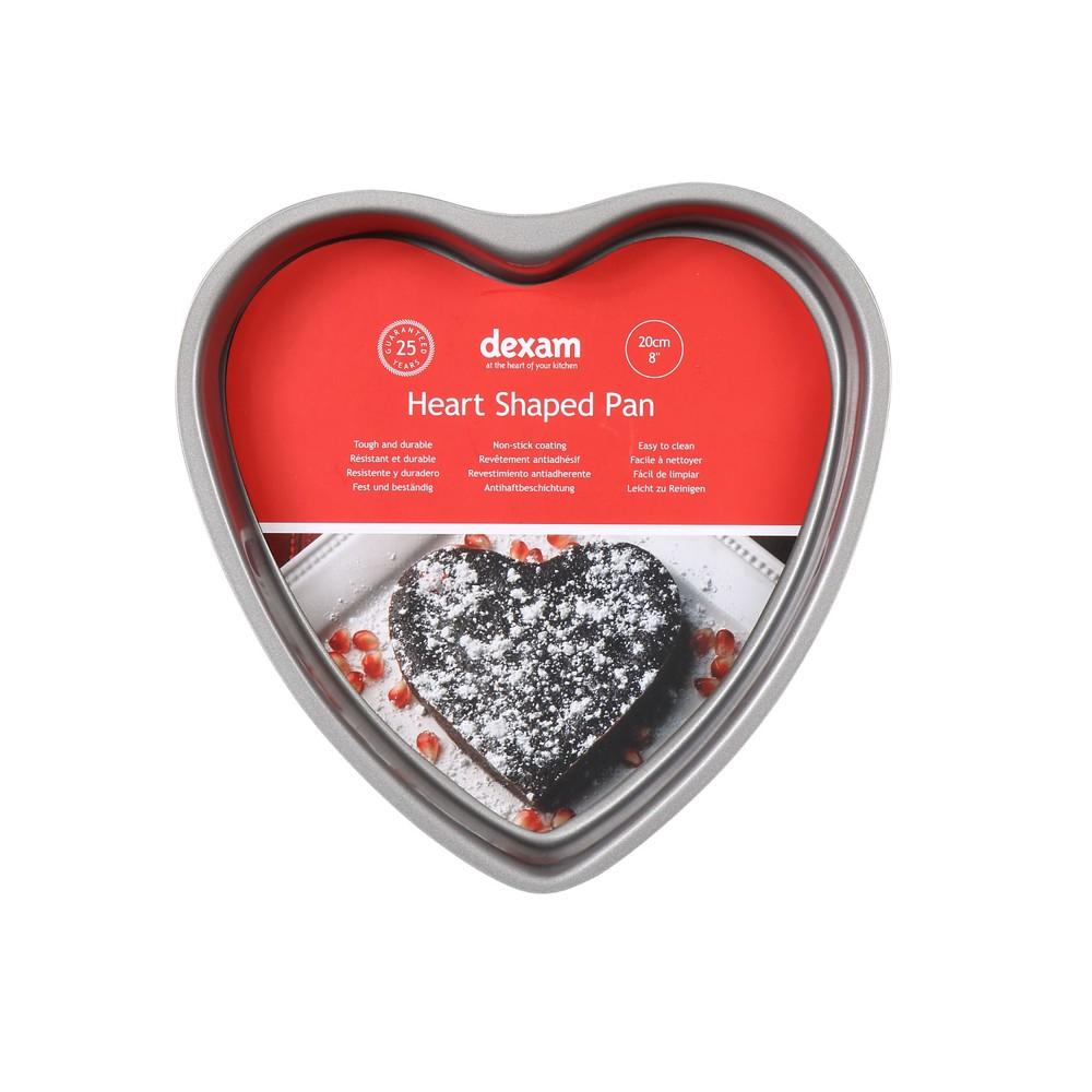 Forma na pečenie torty v tvare srdca s nepriľnavým povrchom Dexam Heart, ø 20 cm