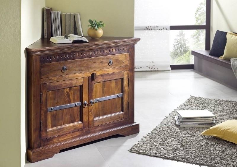OXFORD #505 Kolonialstil rohová komoda, masívny agátový nábytok