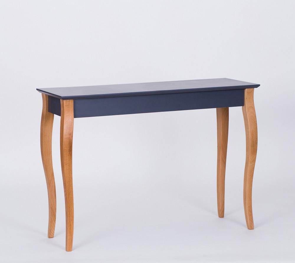 Grafitovosivý odkladací stolík Ragaba Console,dĺžka105cm