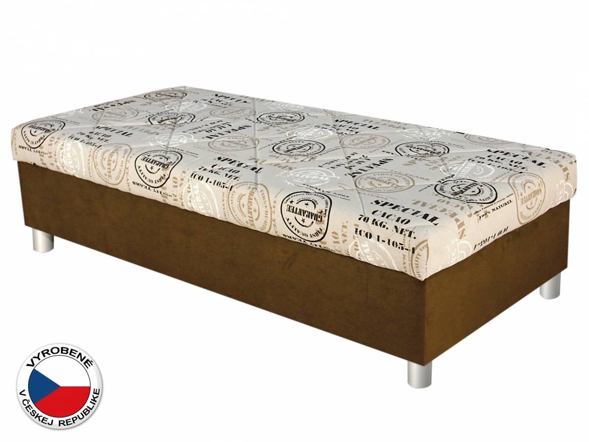 Jednolôžková posteľ (váľanda) 90 cm Blanár Inez (béžová + hnedá) (s roštom a matracom)