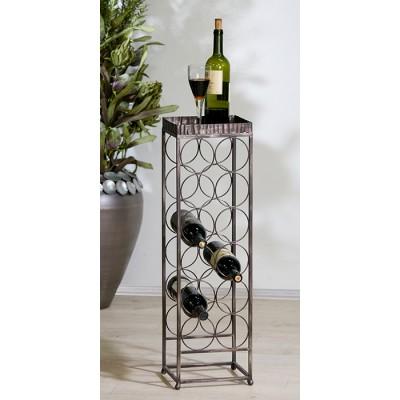 Stojan na víno ALBANY - čierna