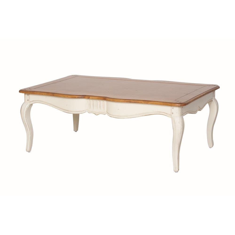 Krémový konferenčný stolík z brezového dreva Livin Hill Verona
