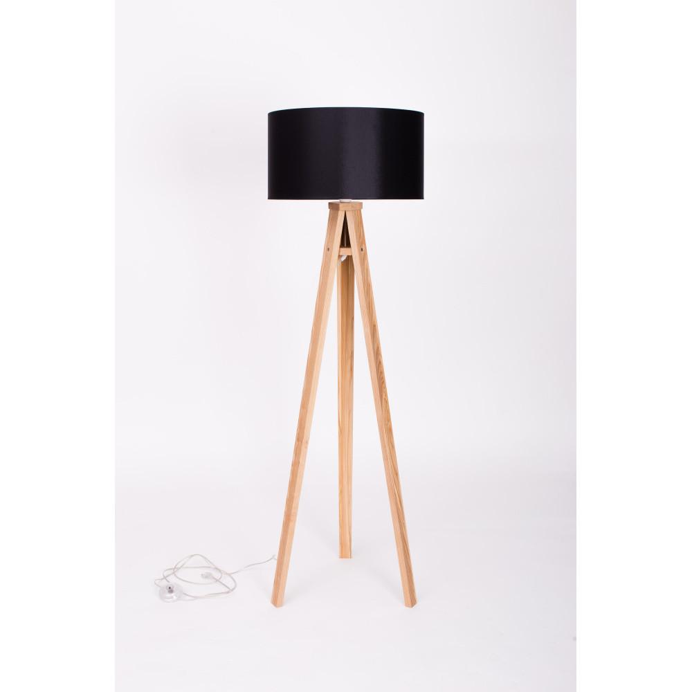 Čierna stojacia lampa Ragaba