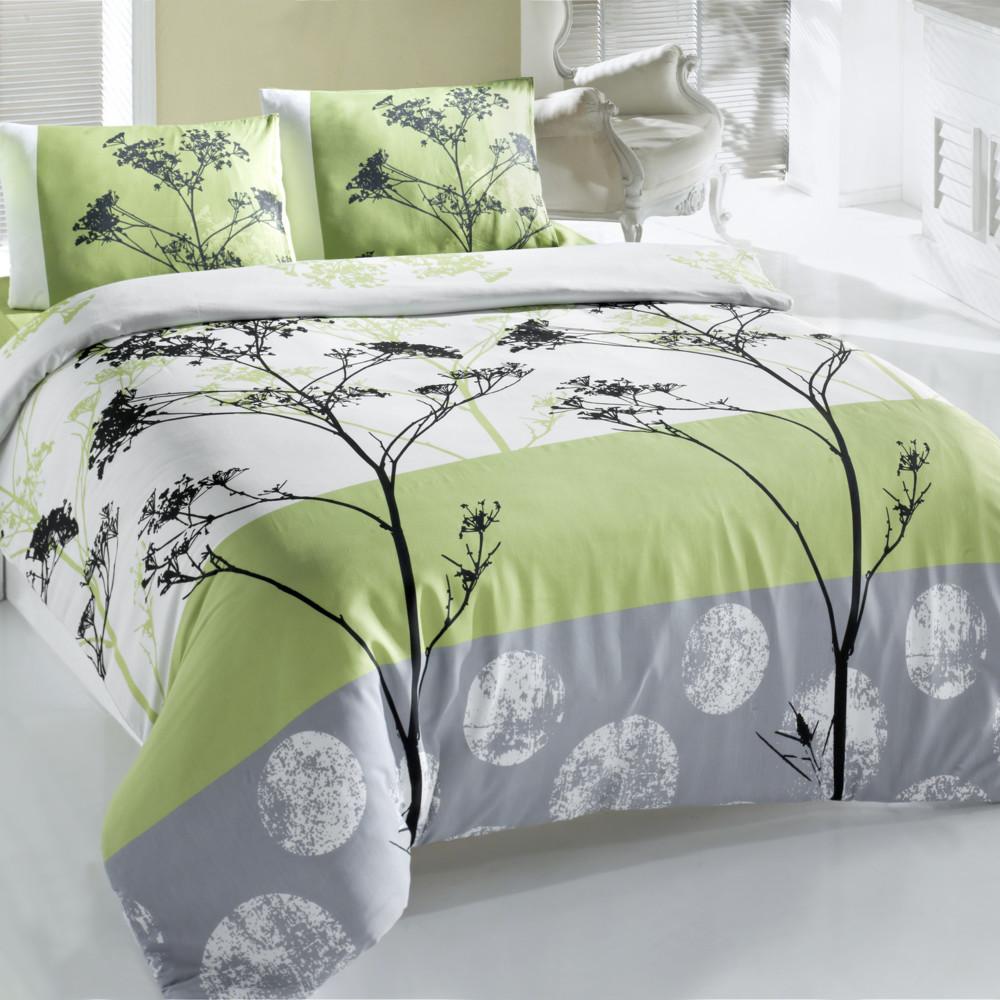 Obliečky s plachtou Blezza Green, 160x220cm