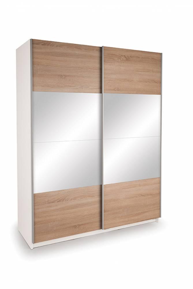 Skriňa EKO PLUS BT13 dub sonoma so zrkadlom 150