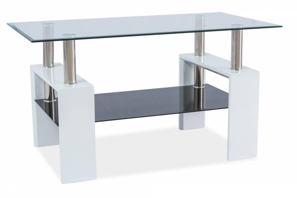 Konferenčný stolík Lisa III (lesk vysoký biely)