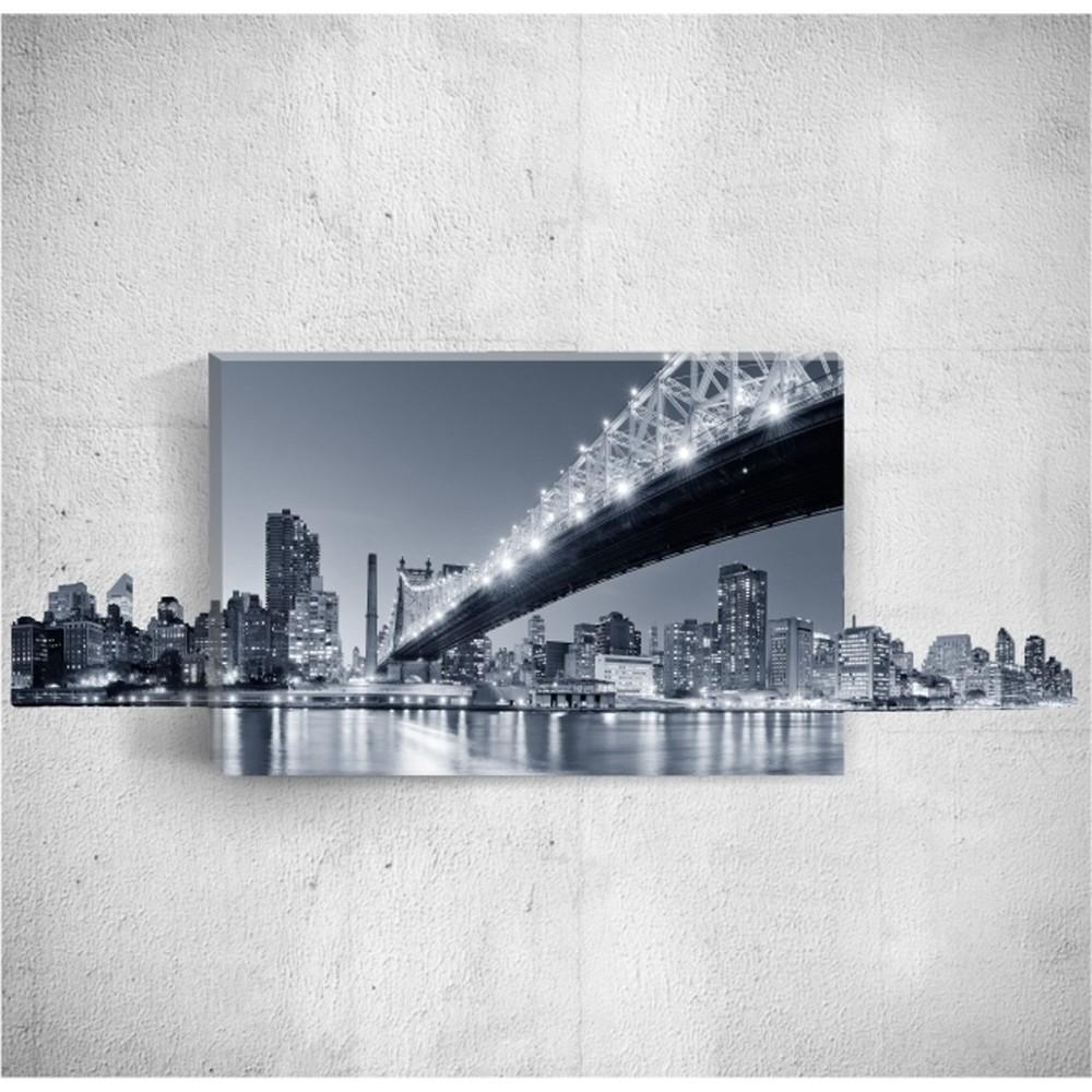 Nástenný 3D obraz Mosticx Night City, 40×60 cm