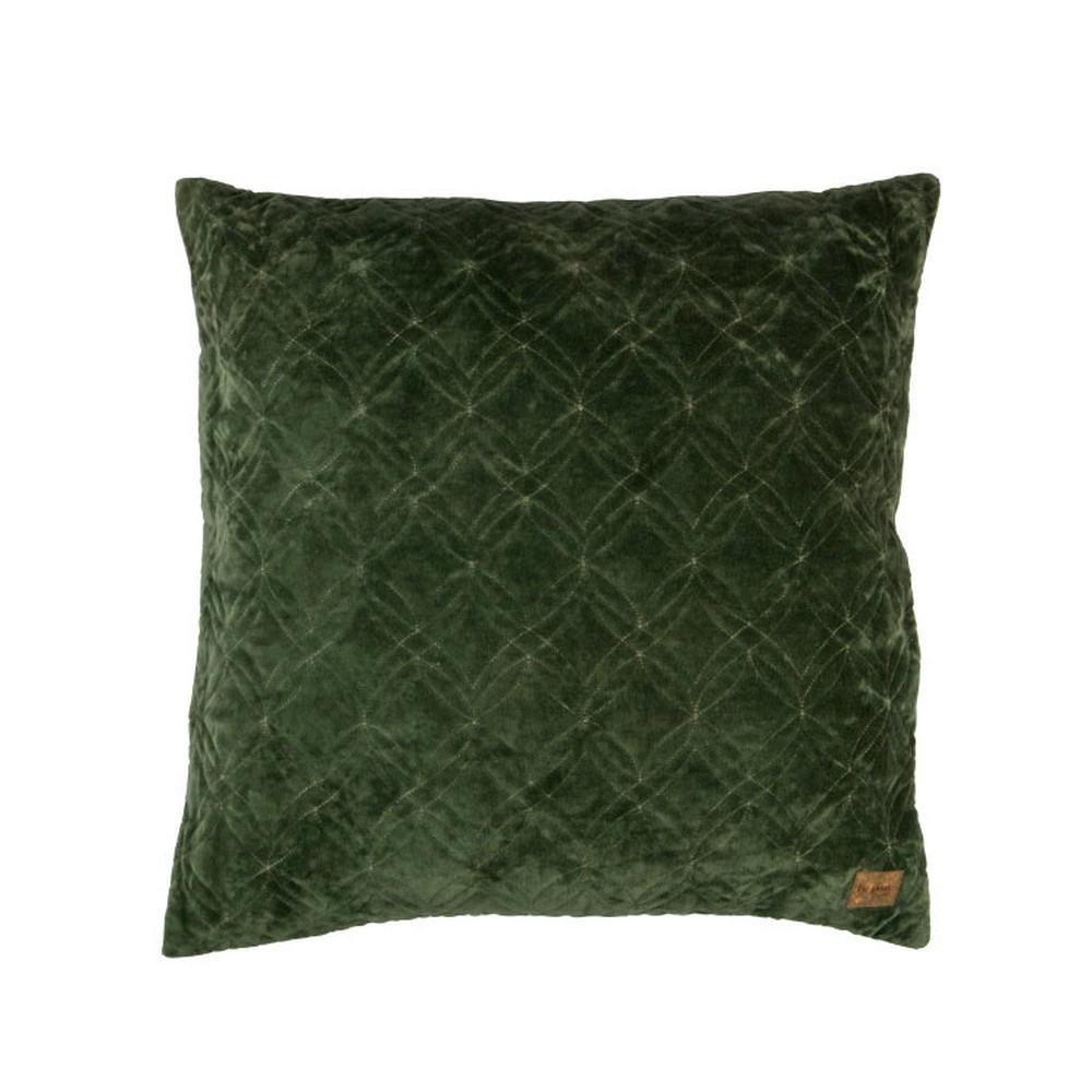 Zamatový zelený bavlnený vankúš De Eekhoorn Cherish, 50×50cm