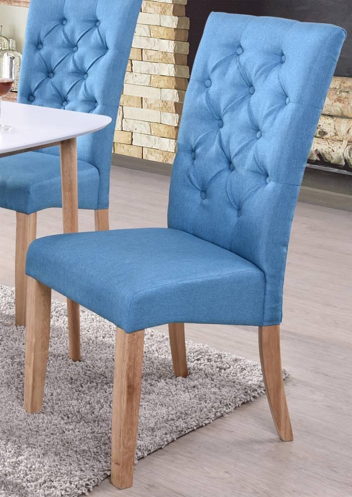 Jedálenská stolička Atena modrá/natural