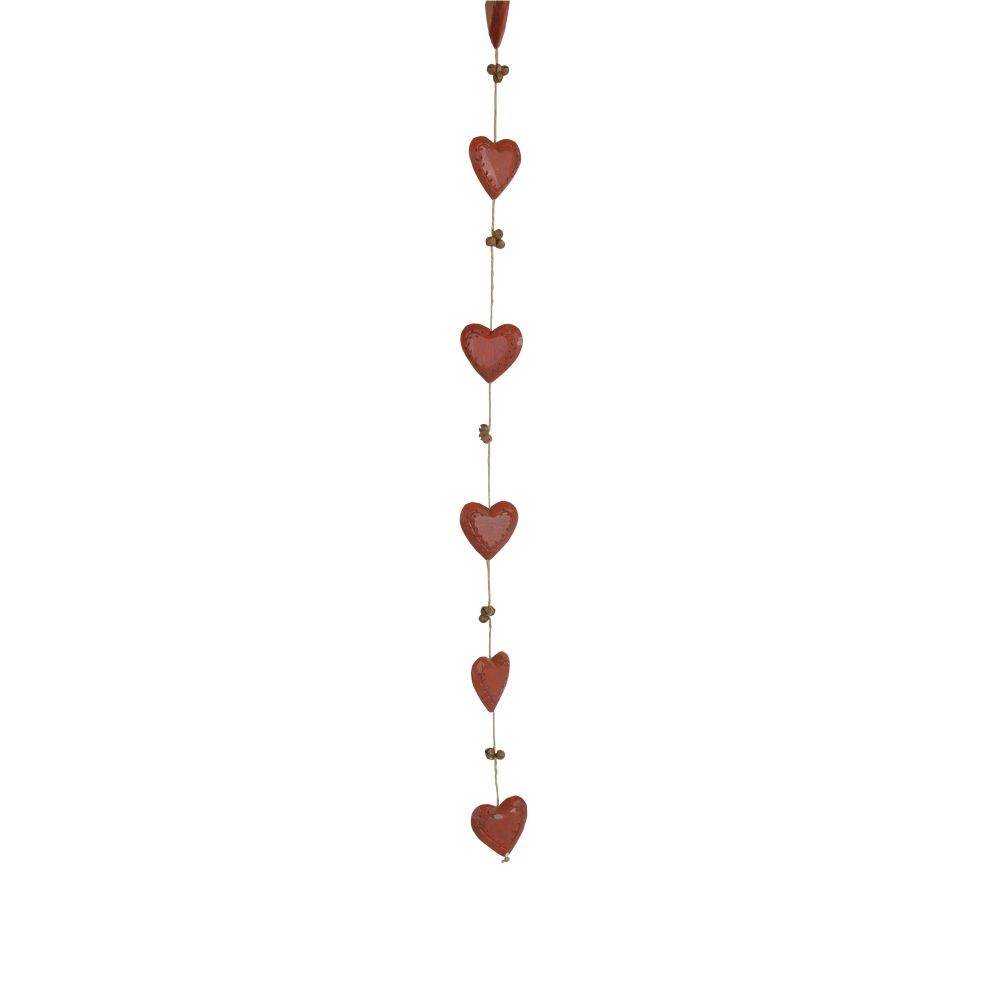 Girlanda Antic Line Bells & Hearts Red