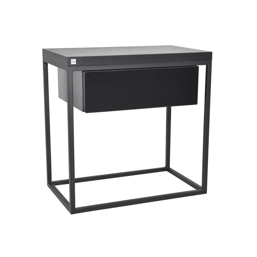 Čierny nočný stolík Take Me HOME Moonlight, 50×30cm