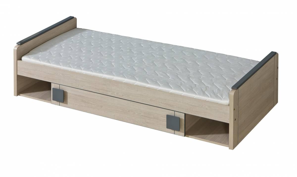 Jednolôžková posteľ 80 cm G13 (s roštom a úl. priestorom)