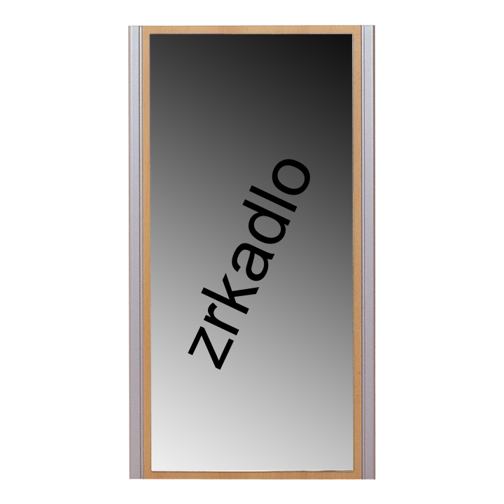 TEMPO KONDELA LISSI 09 zrkadlo - buk / strieborná