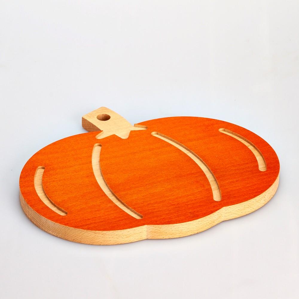 Buková doska na krájanie Pumpkin, 31 x 27 cm