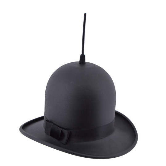 Čierne stropné svietidlo Woman Hat