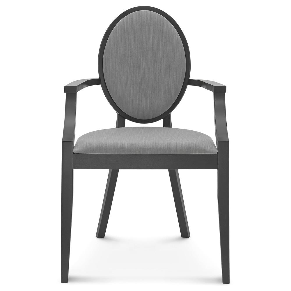Čierna drevená stolička Fameg Susanne