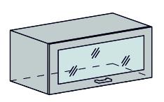 VALENCIA horný výklop sklo 80VS, biela/strieborný dážď