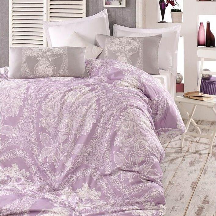 Homeville Obliečky Adeline purple bavlna, 140 x 220 cm, 70 x 90 cm
