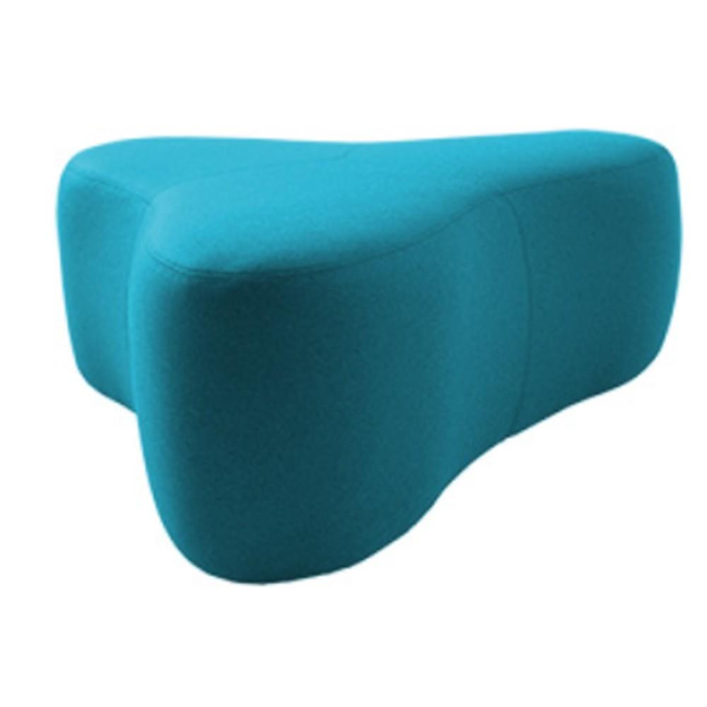 Tyrkysový puf Softline Chat Felt Melange Turquoise, dĺžka 130 cm