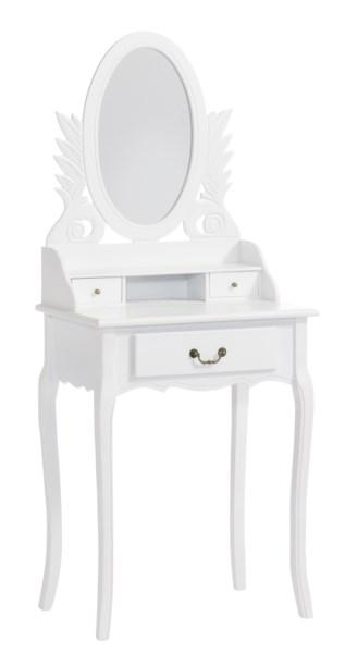 Toaletný stolík so zrkadlom MOLIS - biela