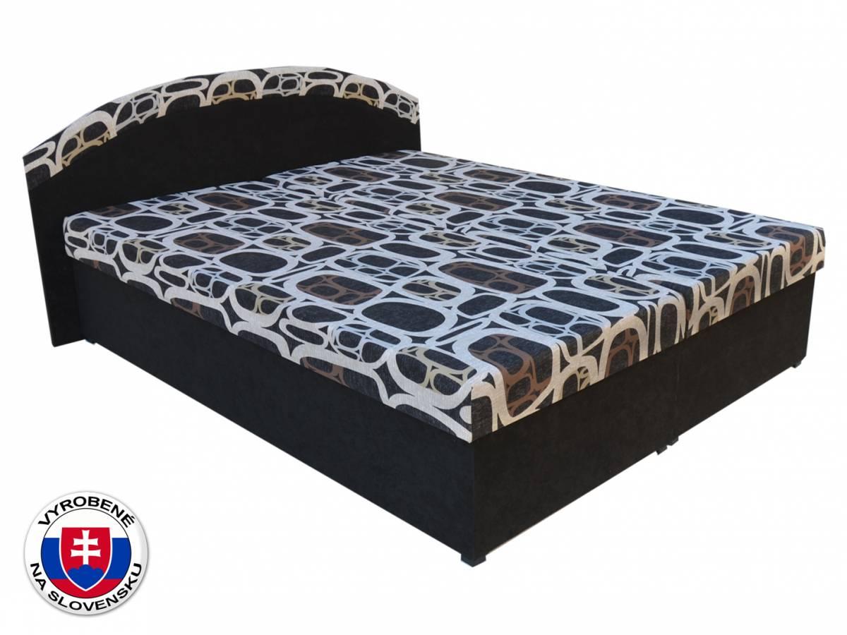 Manželská posteľ 160 cm Pandora (čierna) (s roštami a matracmi)