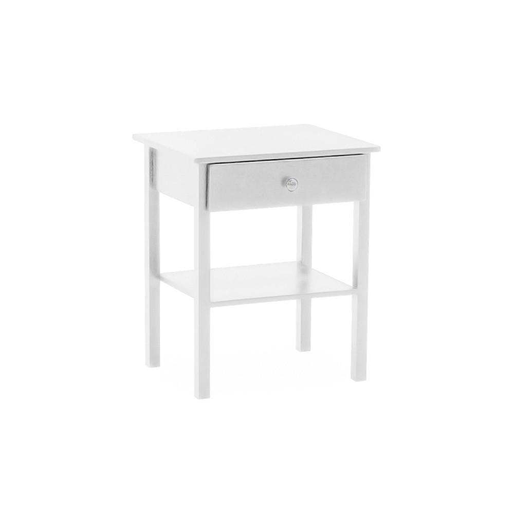 Biely drevený nočný stolík VIDA Living Willow