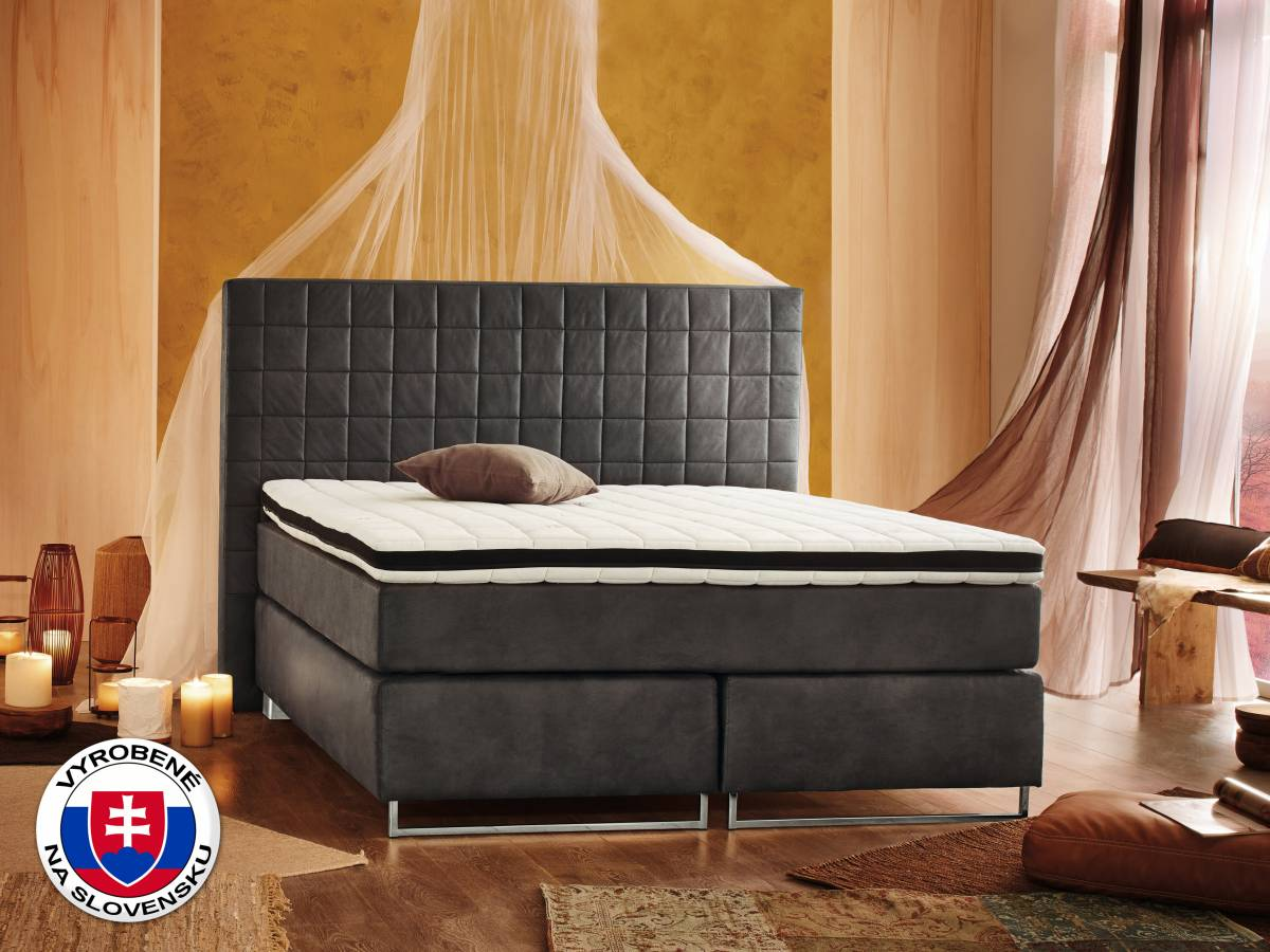 Manželská posteľ Boxspring 180 cm Lux (s matracmi)