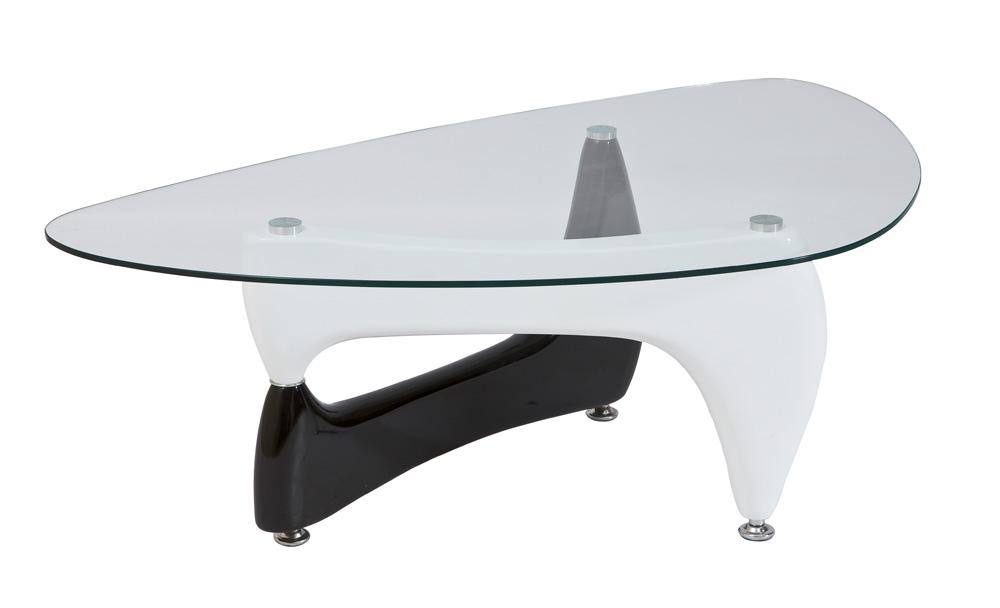 Konferenčný stolík Omega B čierna + biela