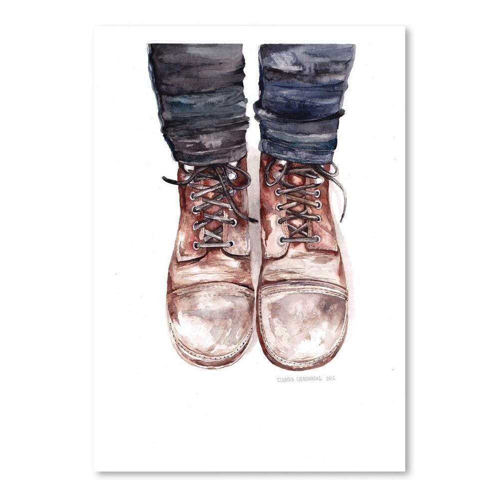 Plagát Dusty Boots, 30x42 cm