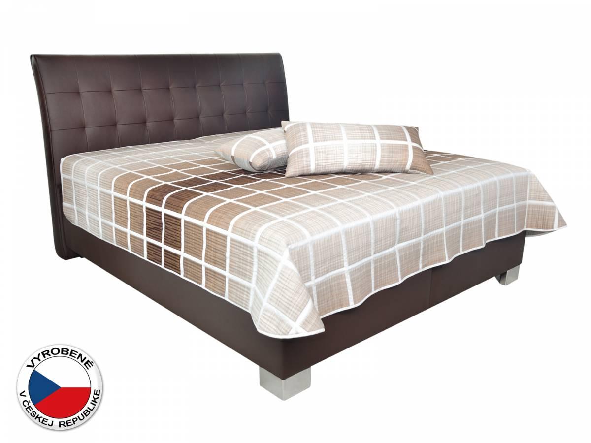 Manželská posteľ 180 cm Blanár Sara (hnedá) (s roštami a matracom Nelly Plus)