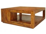 Furniture nábytok  Masívny konferenčný stolík  z Palisanderu  Čandra  110x110x45 cm
