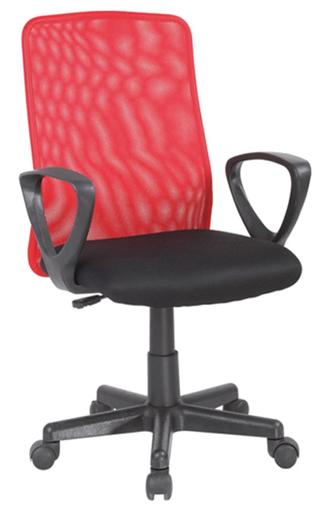 Kancelárska stolička Q-083 červená + čierna